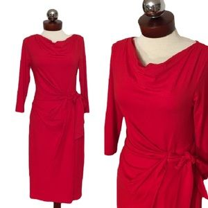 Ann Taylor Dresses & Skirts - ANN TAYLOR faux wrap jersey cowl neck dress