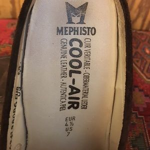 Mephisto Shoes - Mephisto COOL-AIR Suede Slide On Mule