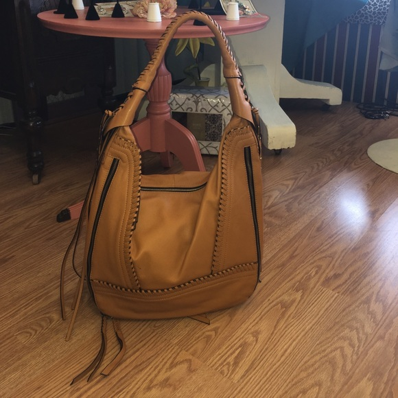 85b0f78c3b QVC OrYANY leather hobo bag hippie