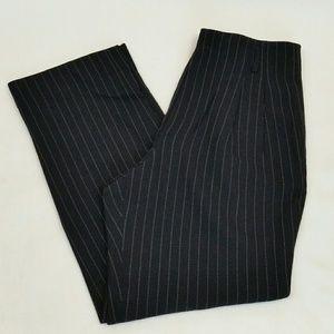 Dana Buchman Wool, Black Pinstripe Trousers Sz 8