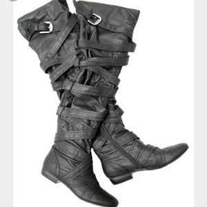 Jeffrey Campbell Carry Over The Knee Buckle Boot