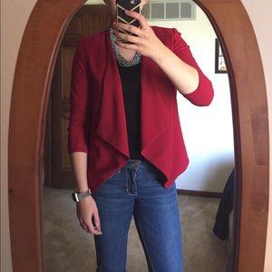 Jackets & Blazers - Red fitted blazer