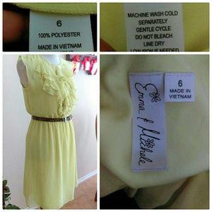 Emma and Michele Dresses - ⬇Chartreuse Ruffle Dress Final Price