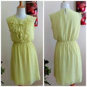 Emma and Michele Dresses - ⬇Chartreuse Ruffle Dress Final Price