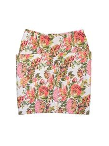 Stella McCartney- Multi-Color Jacquard Floral Print Skirt Sz 8