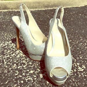 Aldo Shoes - Aldo silver sparkle heels