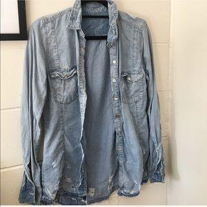 Blank NYC Tops - Distressed BLANKNYC Jean Shirt