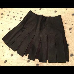 Zara faux leather pieced skirt size XS