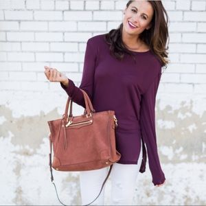 Rebecca Minkoff rust Regan satchel bag whiskey