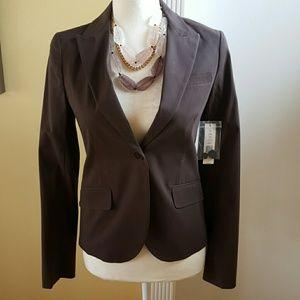 Theory brown single button blazer sz 0
