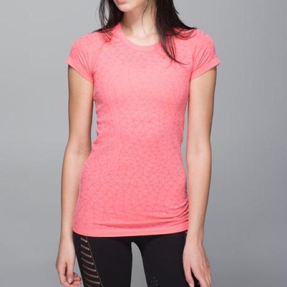 2725679a1cc lululemon athletica Tops - Lululemon Run: Swiftly Tech Short Sleeve Coral