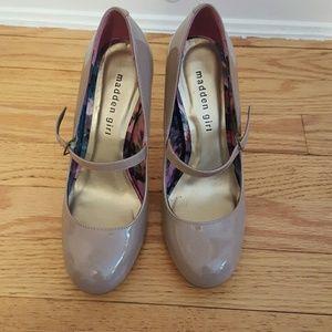 Madden Girl Shoes - Madden Girl beige patent maryjanes