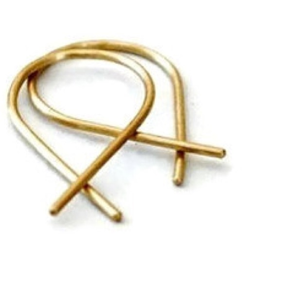 Nejd sale 14k solid gold fish shaped hoops from kady 39 s for Solid gold fish