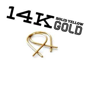 14k solid gold Fish Shaped Hoop Earrings
