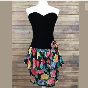 My Michelle Dresses & Skirts - Vintage 80s Peplum Strapless dress