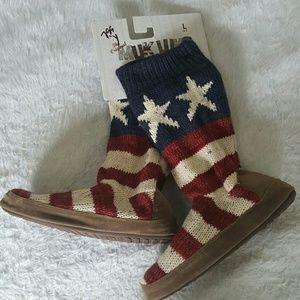 Muk Luks Shoes - NWT!  Red White and Blue Patriotic Muk Luks