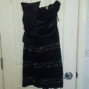 Necessary Clothing Dresses & Skirts - ⬇Price! NWT! Black and silver stretch lace dress