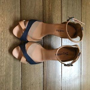 Repetto Shoes - Repetto denim and beige sandals