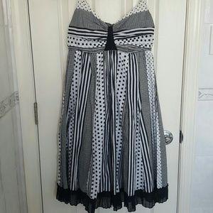 Women\'s Black And White White Macy\'s Striped Dress on Poshmark