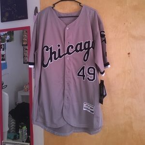 Majestic Other - Grey Chris Sale White Sox Jersey