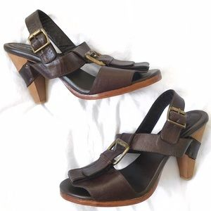 Rachel Comey Shoes - Rachel Comey Brown Buckle Heels