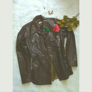 Zara Jackets & Blazers - Zara vintage faux leather jacket