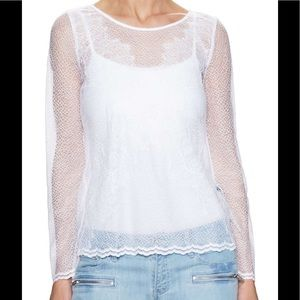 The Kooples Tops - 🆕 NWOT! The Kooples Delicate white lace top sz Sm