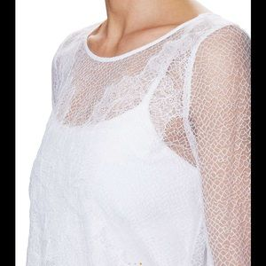 The Kooples Tops - NWOT! The Kooples white lace overlay S