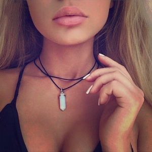 Jewelry - Black Gypsy Opal Healing Stone Choker Necklace