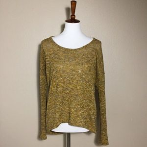 Gibson Sweaters - {Gibson} High-Low Mustard Knit Sweater