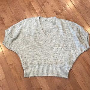 Fuzzy dolman sleeve sweater by American Rag