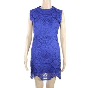 Stella Luce Dresses & Skirts - Stella Luce Royal Blue Lace Sleeveless Dress