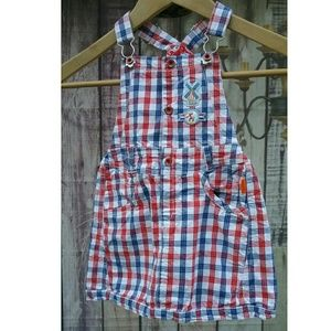 Oilily Other - Oilily Plaid dress jumper overalls