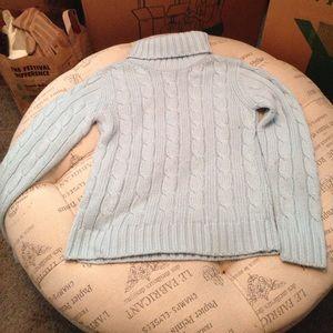 North Crest baby blue turtleneck sweater size S