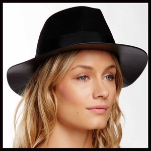 San Diego Hat Company Accessories - ❗️1-HOUR SALE❗️Vegan Leather Trim Fedora Hat