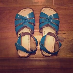 Salt Water Sandals by Hoy Other - Saltwater sandals by Hoy light blue turquoise