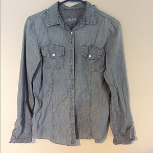 GAP Tops - GAP Chambray Shirt