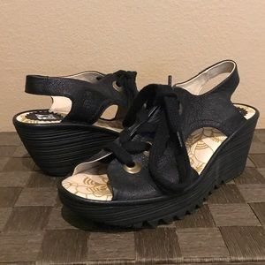 Fly London Shoes - NWOT Fly London Comfy Stylish Lace Up Wedge Sandal