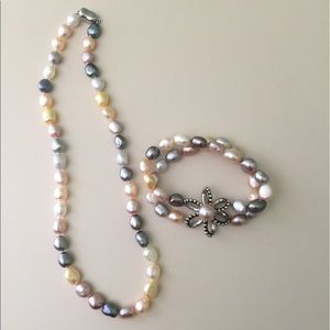 Honora Jewelry - Honora Freshwater Conch Pearl Necklace & Bracelet