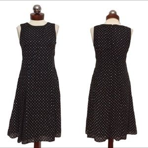 Ann Taylor Dresses & Skirts - ANN TAYLOR polkadot black white casual dress 2