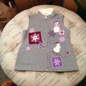 Croft & Barrow snowman vest size PS