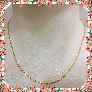 Jewelry - Cool 9K yellow gold filled water wave necklace