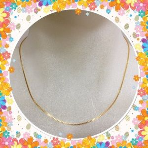 Jewelry - Classic 9K yellow gold filled chain necklace