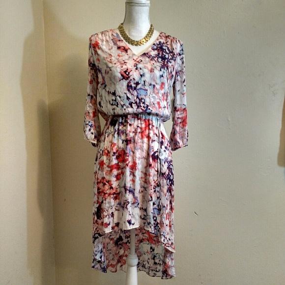 a.n.a Dresses - a.n.a Scarlett Ibis Windsong Hi-lo Hem Dress
