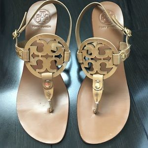 Tory burch tan sandals size 7M