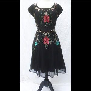 eshakti Dresses & Skirts - New Eshakti Floral Tulle Fit & Flare Dress L 14