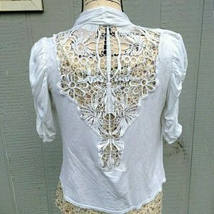 Tops - Lace Back High-Low Cardigan