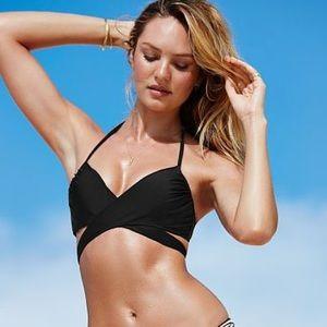 Victoria's Secret Other - 🆕😍 Victoria's Secret black wrap halter swim top