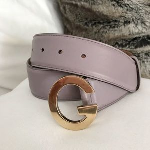 e0b894c098d Gucci Accessories - Gucci Purple Lilac Leather Belt with Gold G Buckle