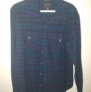True religion flannel button down shirt
